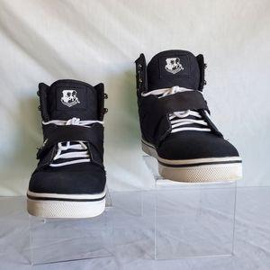 VLado Men's Black /Silver Hardware Sneakers 10.5
